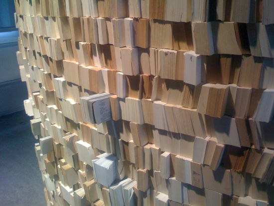 Wall made out of 'books'