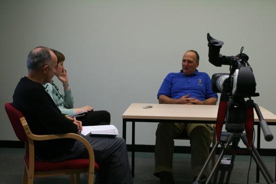 Recording stories with Marc Kazmareck, ex-miner