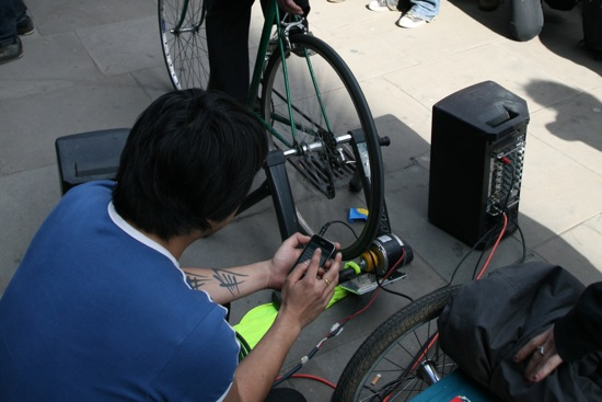 Pedal disco at happy camping in the G20 street