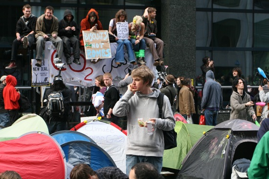 Happy tech camping in the G20 street