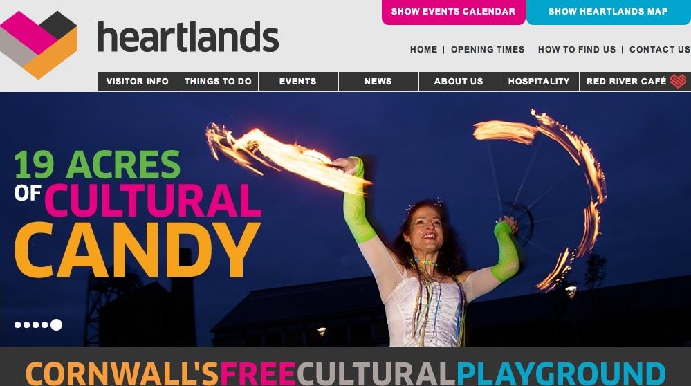 Heartlands Cornwall website