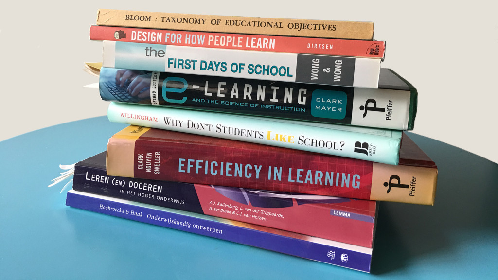pile of books about teaching