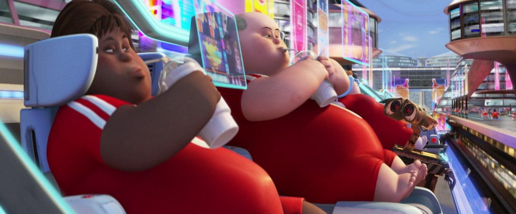 Animation characters - very fat people in chairs in film Wall-E