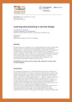 Paper: Learning and practicing in service design